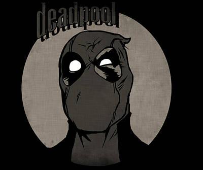 Digital Art - Vintage Deadpool by Kyle West
