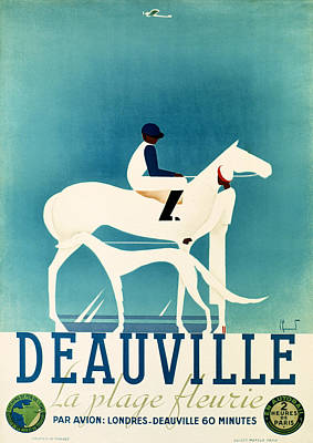 Photograph - Vintage Deauville Ad 1930 by Andrew Fare