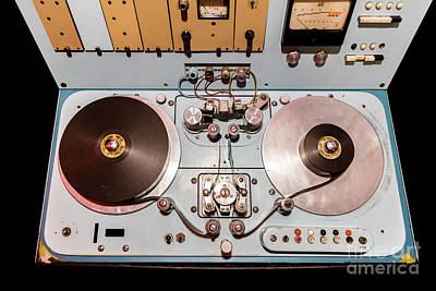 Tape Photograph - Vintage Deck With Switches And Old Reels by Michal Bednarek