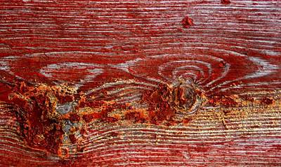Painting - Vintage Deep Rustic Red Shabby Grunge Design by Joy of Life Arts