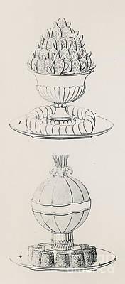 Pineapple Drawing - Vintage Designs By Antoine Careme by Marie Antoine Careme
