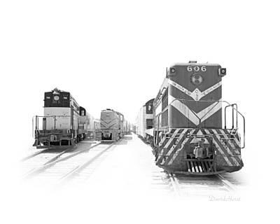 Vintage Diesels Art Print by David Horst