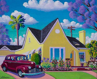Birght Painting - Vintage Digs by Frank Strasser