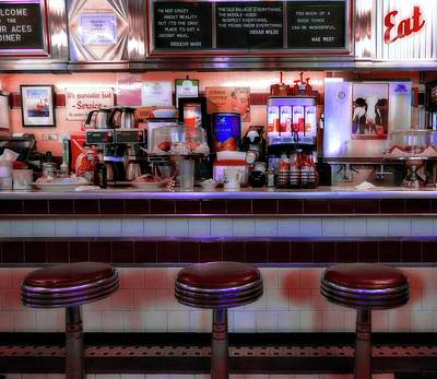 Photograph - Vintage Diner by Sherman Perry