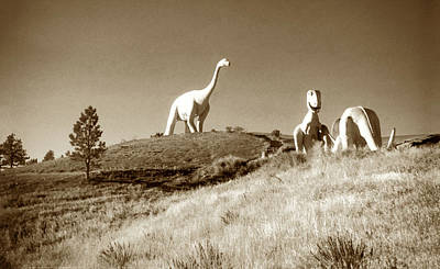 Photograph - Vintage Dinosaur Park by Marilyn Hunt