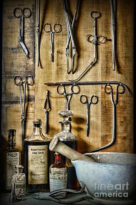 Vintage Doctor Things Art Print by Paul Ward