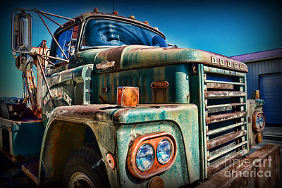 Antique Tow-truck Photograph - Vintage Dodge 700 Diesel Truck  by Paul Ward
