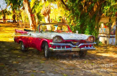 Photograph - Vintage Dodge Custom Royal 1957 by Les Palenik