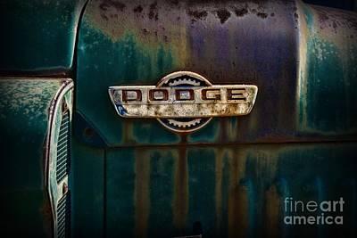 Old Trucks Photograph - Vintage Dodge Emblem  by Paul Ward