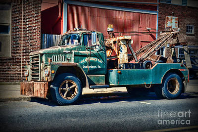 Antique Tow-truck Photograph - Vintage Dodge Tow Truck 2 by Paul Ward