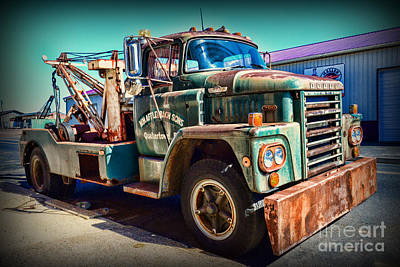 Antique Tow-truck Photograph - Vintage Dodge Tow Truck by Paul Ward