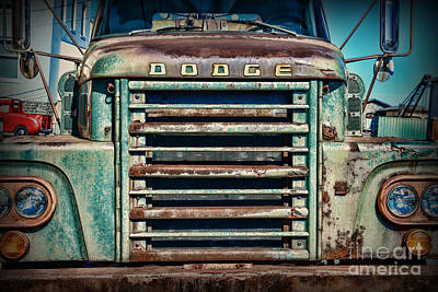 Antique Tow-truck Photograph - Vintage Dodge Truck Front Grill by Paul Ward