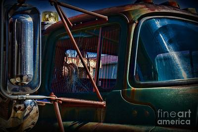Antique Tow-truck Photograph - Vintage Dodge Truck Shattered Window by Paul Ward