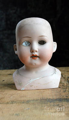 Photograph - Vintage Doll Head by Jill Battaglia