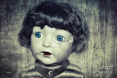 Cracks Digital Art - Vintage Doll by Jutta Maria Pusl