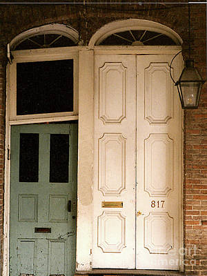 Photograph - Vintage Doorways - Old Town New Orleans by Merton Allen
