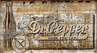 Photograph - Vintage Dr. Pepper Sign Toned by John Stephens