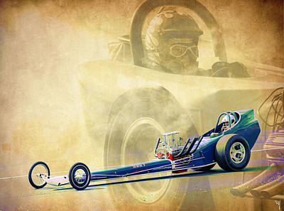 Photograph - Vintage Dragster by Steve McKinzie