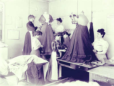 Vintage Dressmakers Art Print by Mindy Sommers