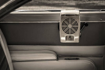 Photograph - Vintage Drive-in Speaker Hung In A Classic Car by Phil Cardamone