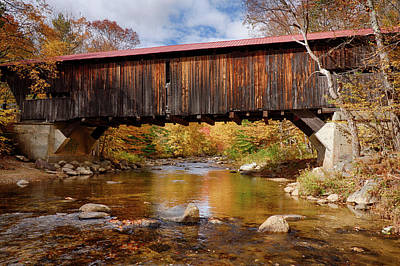 Photograph - Vintage Durgin Covered Bridge by Jeff Folger