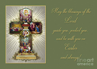 Photograph - Vintage Easter Blessings by JH Designs