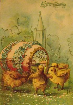 Photograph - Vintage Easter Greeting by Anna Villarreal Garbis