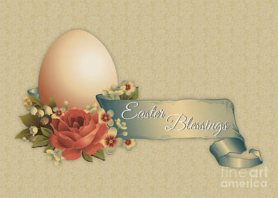 Digital Art - Vintage Easter by JH Designs