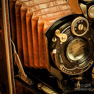 Photograph - Vintage Eastman Kodak Folding Pocket Camera 20170915 V2 Square by Wingsdomain Art and Photography