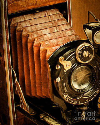 Photograph - Vintage Eastman Kodak Folding Pocket Camera 20170915 V2 by Wingsdomain Art and Photography
