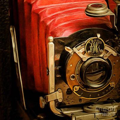 Photograph - Vintage Eastman Kodak Folding Pocket Camera Tb 25 50 100 20170915 Square by Wingsdomain Art and Photography