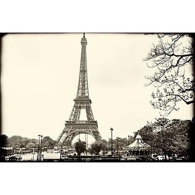 Vintage Eiffel Landscape  #paris Art Print
