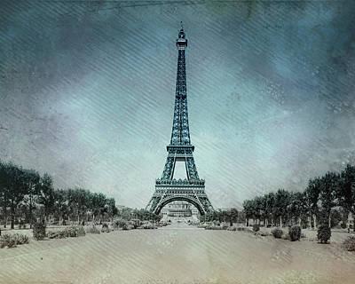 Paris Digital Art - Vintage Eiffel Tower by Bill Cannon