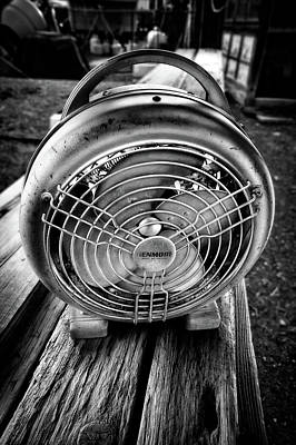 Photograph - Vintage Electric Heater With Fan In Bw by YoPedro