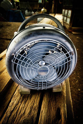 Photograph - Vintage Electric Heater With Fan by YoPedro