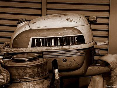 Painting - Vintage Evinrude by Wesley Nesbitt