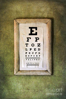 Eye Chart Photograph - Vintage Eye Chart by Jill Battaglia