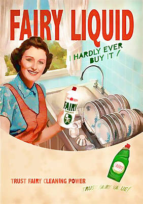 Digital Art - Vintage Fairy Liquid Advert - Circa 1950's by Marlene Watson