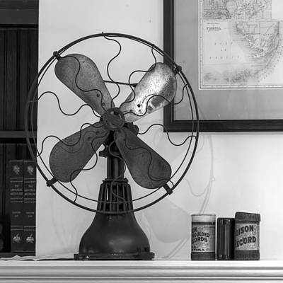 Photograph - Vintage Fan And Edison Records by Lynn Palmer
