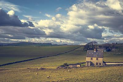 Derbyshire Photograph - Vintage Farmscape by Chris Fletcher