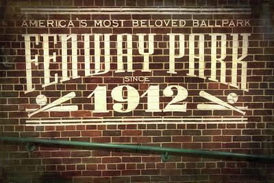 Photograph - Vintage Fenway Park 1912 by Joann Vitali
