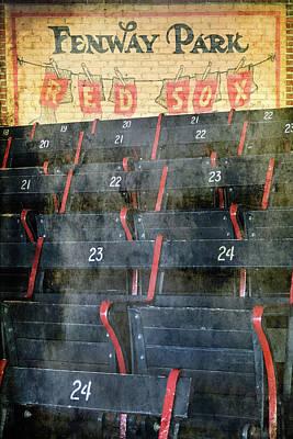 Photograph - Vintage Fenway Park Blue Seats by Joann Vitali