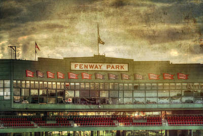 Landmarks Royalty-Free and Rights-Managed Images - Vintage Fenway Park - Boston by Joann Vitali