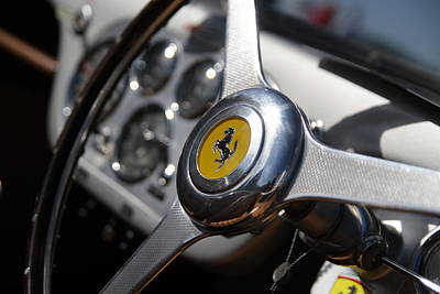 Photograph - Vintage Ferrari Wheel by Joel Witmeyer