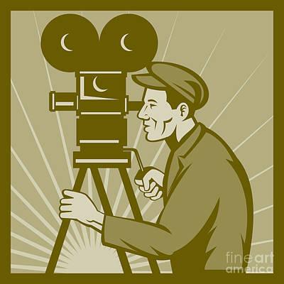 Vintage Film Camera Director Art Print by Aloysius Patrimonio