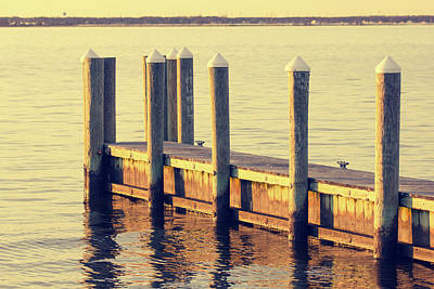 Photograph - Vintage Film Look Shot Of A Pier By The Barnegat Bay In New Jers by Kyle Lee