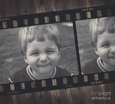 Filmstrip Photograph - Vintage Filmstrip Boy Smiling For The Camera by Jorgo Photography - Wall Art Gallery