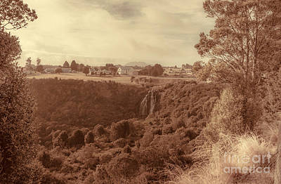 Vintage River Scenes Photograph - Vintage Fine Art Landscape. Tasmania Country Towns by Jorgo Photography - Wall Art Gallery