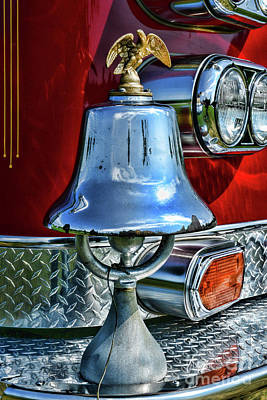 Photograph - Vintage Fire Bell by Paul Ward