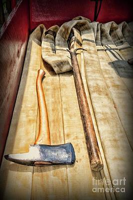 First Responders Wall Art - Photograph - Vintage Fire Hook And Axe by Paul Ward